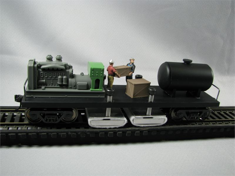 T 107 Two Rail Deluxe Track Cleaning Car (now in brushed